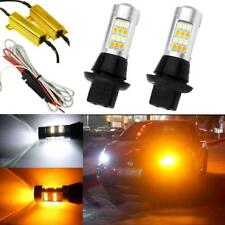 7440 Dual Color White Amber Switchback LED Bulbs for Front Turn Signal DRL Light