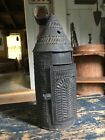 Antique+Tall+Punched+Tin+Hanging+Candle+Paul+Revere+Lantern%2C+Paint+++aafa