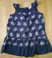 Trussardi Kinder Mädchen Langarrm Kleid Falten Karo Muster Blau Grau NP €79