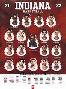 Indiana University Hoosiers 2021-22 Men's Basketball Poster Schedule - New