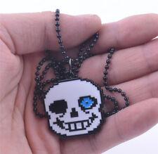 Undertale Sans Head Necklace Metal Pendant Jewelry Cosplay Collection Otaku