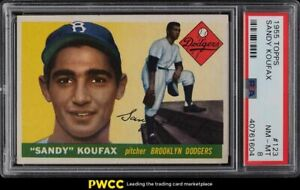 1955 Topps Sandy Koufax ROOKIE RC #123 PSA 8 NM-MT