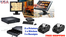 "15"" Point of sale Pos system register Touch screen restaurant retail Bar Lenovo"