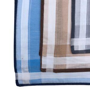 Men's 100% Pure Cotton Handkerchiefs 38CM X 38CM Birthday Gift Bulk Deal 3