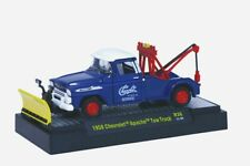 M2 MACHINES 1958 CHEVROLET APACHE TOW TRUCK w/ PLOW- REL 36-NEW IN BOX HTF 1:64