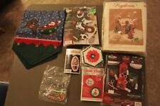 6 Christmas Crafts Sports Ornaments  Gingerbread House Cross Stitch Kits & More