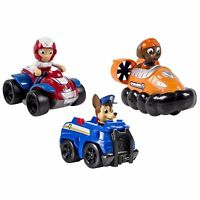 Nickelodeon, Paw Patrol - Rescue Racers 3 pack Vehicle Set Chase, Zuma, Ryder