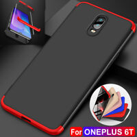 Shockproof Hard Case For Oneplus 6T Hybrid Untra Silm 360° Protective Cover+Film
