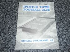 IPSWICH TOWN  v  SWANSEA TOWN  1959/60   ~  AUGUST 26th   *****FREE POST*****