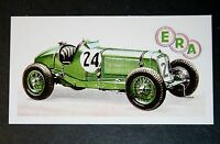 ERA Supercharged 1.5 Litre   Racing Car     Illustrated Colour Card  # CAT A