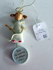 Down the centuries it whispers still - Lifesigns Christmas Ornament Angel
