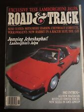 Road Amp Track Magazine November 1982 Lamborghini Jalpa Ff Ww Oo Al Aq W