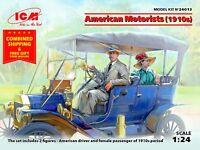 ICM 24013- 1/24 American Motorists 1910's 2 figures plastic model kit scale kit