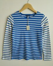 JOULES GIRLS BLUE STRIPE HARBOUR TOP AGE 11-12 YRS NEW WITH TAG