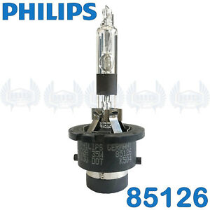Philips Germany 85126 D2R Xenon HID Headlight Bulb USA seller 90 Day Warranty