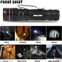 3000LM Zoomable CREE XM-L Q5 LED AA/14500 Flashlight Torch Super Bright Light UK