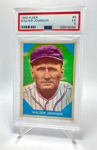 Deans Cards 5 EX Senators Baseball Card 1961 Topps # 409 Baseball Thrills Walter Johnson Washington Senators