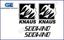 4 Stück KNAUS SÜDWIND - Wohnwagen Aufkleber - Sticker - Decal !<!>!<!>!<!>!