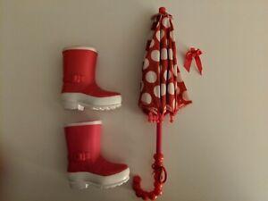 """My Life umbrella and boots- Fits 18"""" dolls"""