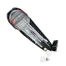 GRAYS 4 Player Badminton Combo Set: 4 Racquets, Bag, Net, Poles & Shuttlecocks!