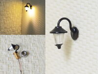 S278 - 5 Stück Wandlampen LED 1-flammig für H0 Häuser Gebäude Straßenlampen
