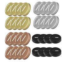 8 Stücke 70mm Deckel Edelstahl gepolsterte rostenfreie für Mason Jars Spardose