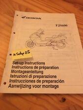 Honda scooter FJS600 FJS 600 instruction preparation setup manuel ed 2001