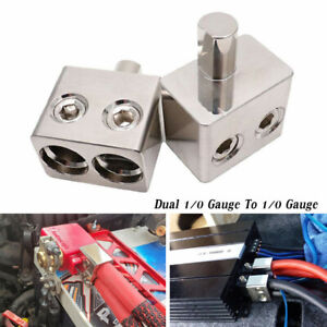 Car Audio High Power Amplifier Line Plug-in Dual 1/0 Gauge To 1/0 Gauge Input