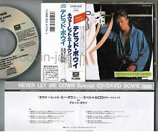 "DAVID BOWIE Never Let Me Down 5"" JAPAN-ONLY CD CP20-5520 w/2,000JPY OBI+INSERT"