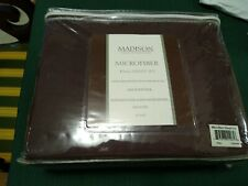 New Madison Luxury Home Microfiber King Sheet Set 100% Polyester Chocolate