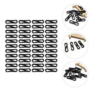 100x Plastic Snap Clip Hooks Mini Carabiner Buckle Paracord Backpack Straps Bag