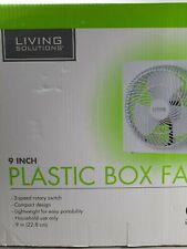 Living Solutions 9inch Plastic Box Fan new..