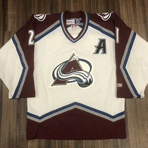 CCM Peter Forsberg Colorado Avalanche NHL Hockey Jersey Vintage White Home M