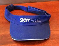 Rare Skyy Blue Vodka Sun Visor Hat