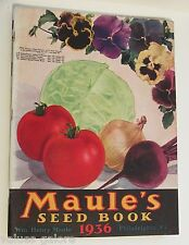 1936 Maule's Seed Book Catalog Plants Vegetables Fruit