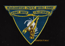 HEADQUARTERS PACIFIC MISSILE RANGE HQ US NAVY PATCH PT MUGU CA USS PIN UP TEST