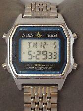 Alba W309-4030 A0 Chrono Alarm  Digital LCD Vintage Collectible Watch