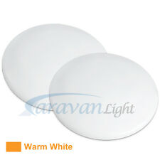 2 x 12v 114mm LED Down Light Ceiling Warm White Caravan Interior Lamp