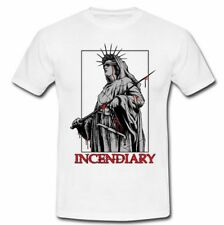 Cool INCENDIARY New york Hardcore Band White T-Shirt Tee S M L XL 2XL