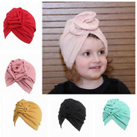 Fashion Kids Baby Girls Soft Cap Headband Hat Beanie Scarf Turban Head Wrap