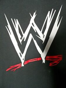 WWE Wrestling Logo T-Shirt Size XL Short Sleeved Crew Neck Cotton Tee Top
