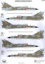 Berna Decals 1/48 DASSAULT MIRAGE IIIE Jet Fighter Part 1