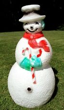 "Vintage Union Products 40"" Snowman Christmas Blow Mold Outdoor Lighted Decor"