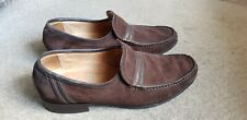 Men's Savile Row by Barker Brown Suede loafers shoes - Size 9