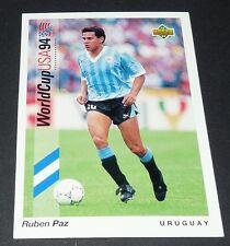 RUBEN PAZ CELESTE URUGUAY FOOTBALL CARD UPPER DECK USA 94 PANINI 1994 WM94