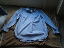 Jaclyn Smith XL baby Blue Long Sleeve 1/2 Button Up Blouse Work Career