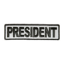 Embroidered President Reflective Sew or Iron on Patch Biker Patch