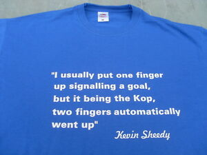 """Everton Kevin Sheedy """"Two Fingers To The Kop"""" T-Shirts Birthday Christmas Gift"""
