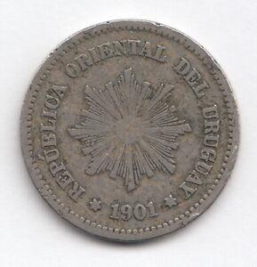 URUGUAY 1901 5 centavos- Radiant sun-   KM21  R1208
