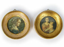 """Pair of 3"""" Round Framed Italy Prints"""
